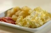 キャベツとアンチョビのポテトサラダの作り方1