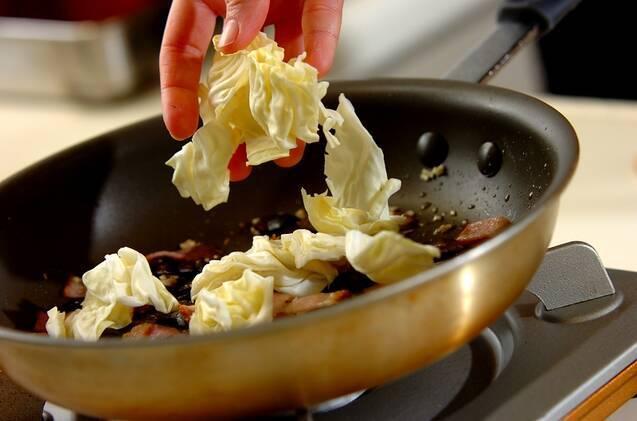 キャベツとアンチョビのポテトサラダの作り方の手順2