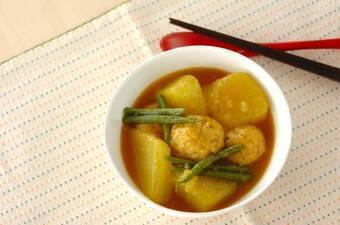 冬瓜と鶏団子のカレー煮