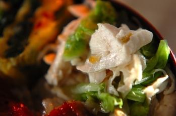 鶏ささ身と白菜のユズコショウ和え