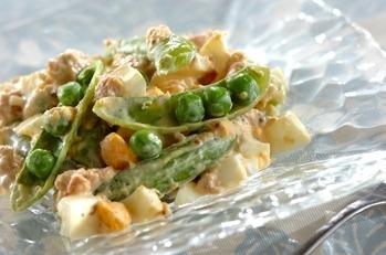 スナップエンドウの卵サラダ