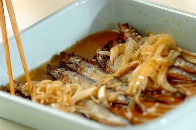 焼きシシャモの甘酢漬けの作り方の手順5