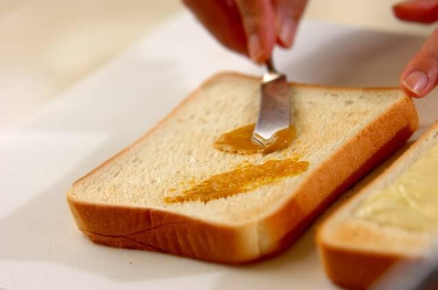 コールスロー風のりマヨサンドイッチの作り方の手順1