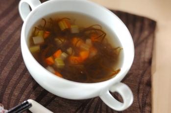 もずくの酸味スープ