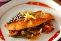 鮭のマヨ照り焼きユズコショウ風味