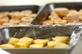 バナナとパイナップルのナイスクリームの下準備1