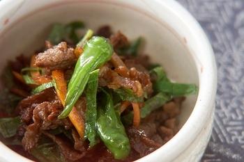 シシトウと牛肉の佃煮