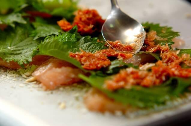梅肉と大葉のささ身パン粉焼きの作り方の手順6