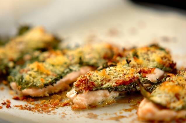 梅肉と大葉のささ身パン粉焼きの作り方の手順8