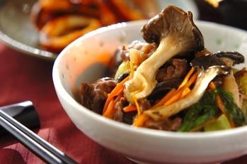 牛肉と霜降りヒラタケの旨煮