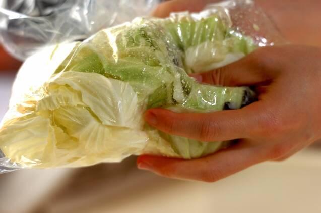 キャベツの塩麹漬けの作り方の手順2