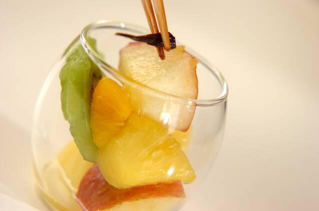フルーツのバニラマリネの作り方の手順4
