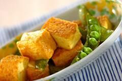 厚揚げのカレーチーズ炒め
