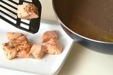 サーモンクリームパスタの作り方2