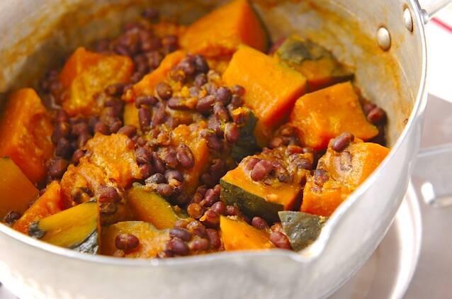ほっくり!カボチャとゆで小豆のいとこ煮の作り方の手順4