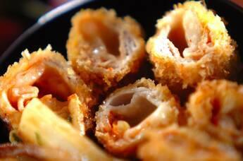 豚肉のキムチチーズフライ