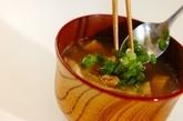 油揚げと納豆の味噌汁の作り方3