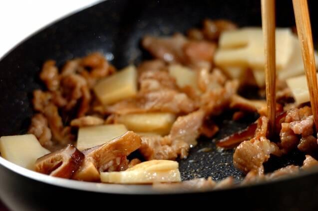 タケノコたっぷりの中華おこわの作り方の手順4