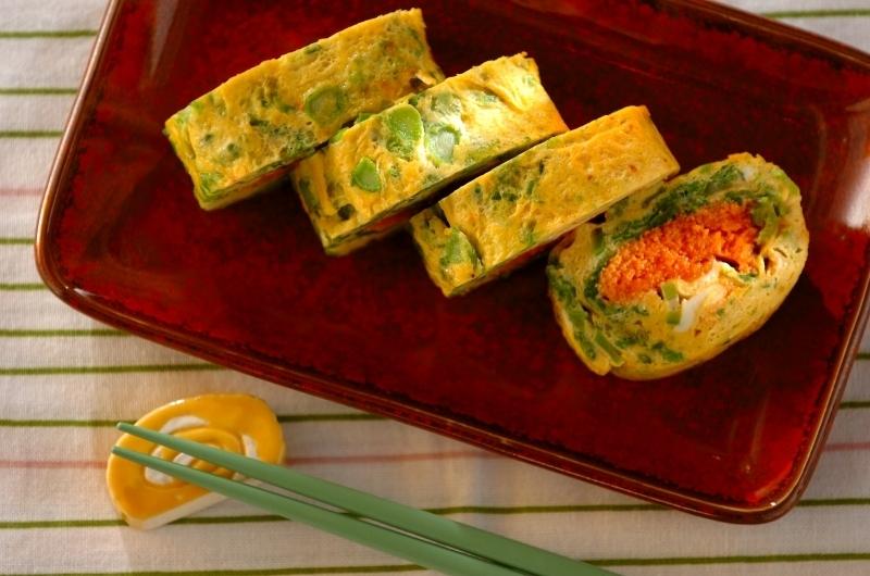 菜の花の明太卵焼き