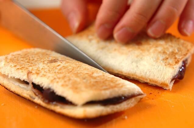 小倉餅ホットサンドの作り方の手順2