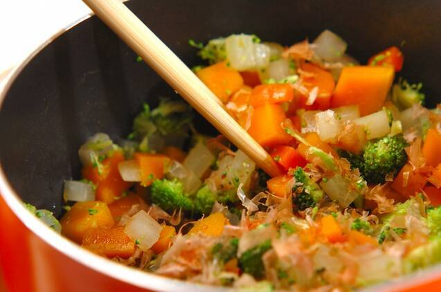 コロコロ野菜のおかかナムルの作り方の手順5