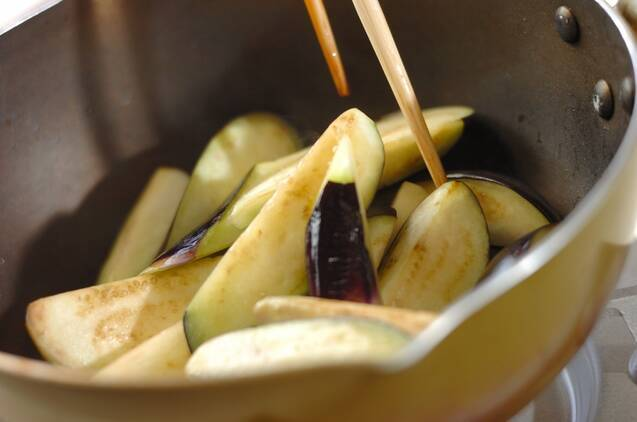 ナスのショウガ煮の作り方の手順2