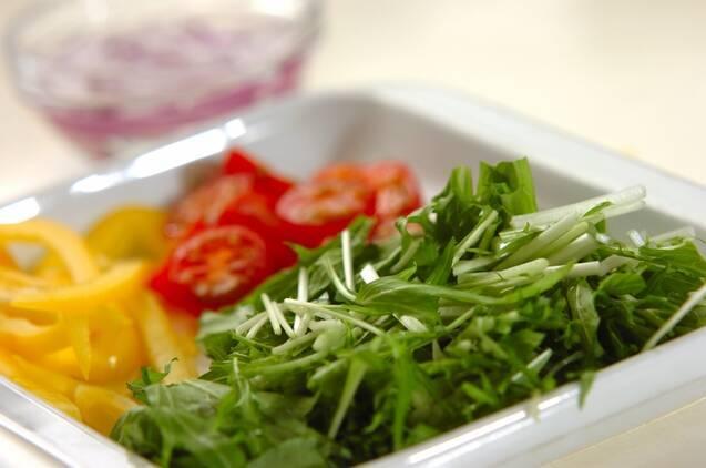 豚しゃぶサラダの作り方の手順1