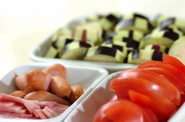 ナスとトマトのグラタン風の作り方の手順1
