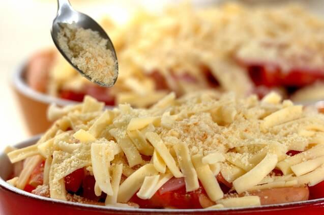 ナスとトマトのグラタン風の作り方の手順4