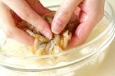 ホタテのバター焼きの下準備2