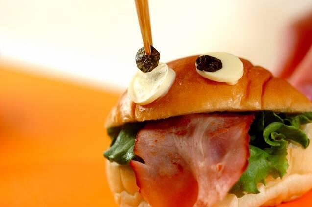 お化けサンドイッチの作り方の手順4