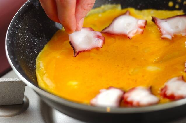 明石焼き風卵焼きの作り方の手順4