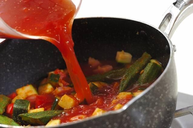 スパイシーな辛さ夏野菜のカレースープの作り方の手順4