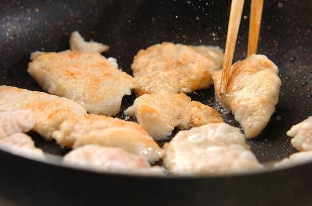 鶏むね肉のオイスター炒めの作り方の手順3