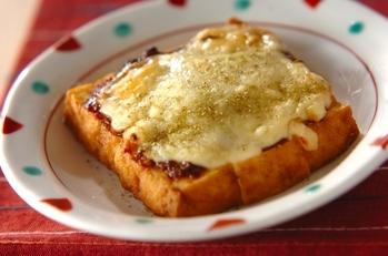 厚揚げの赤みそチーズ焼き