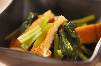 小松菜と油揚げのだし浸し