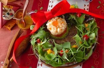 魚介のタルタル クリスマスリース