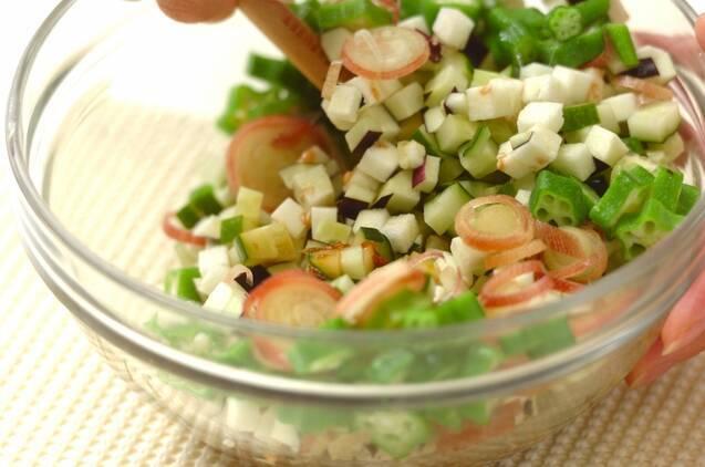 野菜たっぷり山形のダシのせ素麺の作り方の手順3