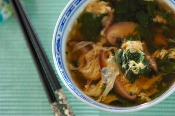モロヘイヤのかき玉スープ