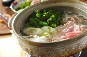 春野菜と豚肉のしゃぶしゃぶ