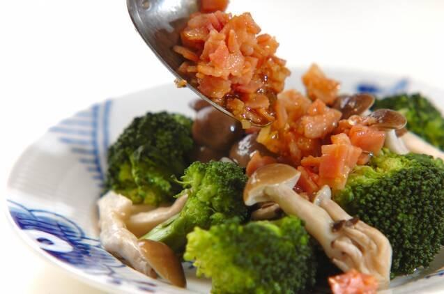 ブロッコリーとシメジのホットサラダの作り方の手順6