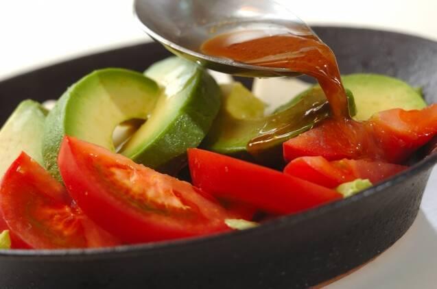 豆腐とアボカドの和風サラダの作り方の手順3