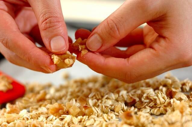 押し麦のグラノーラの作り方の手順3