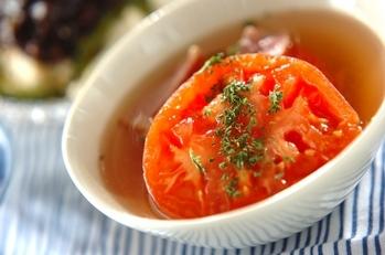 まるごとトマトのサッパリスープ