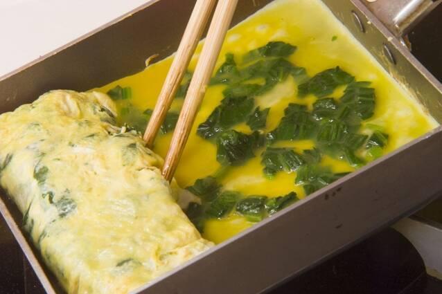 ほうれん草だし巻き卵の作り方の手順4