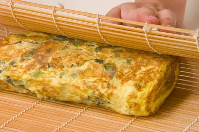 ほうれん草だし巻き卵の作り方の手順5