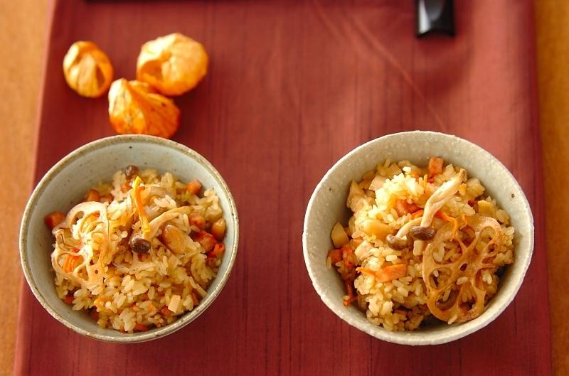 7.干し野菜の具材たっぷり中華おこわ