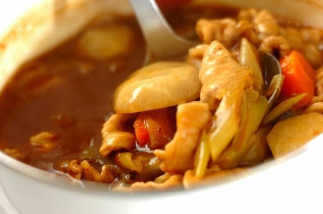 作り置き!麺つゆを使って和風カレーの作り方の手順8