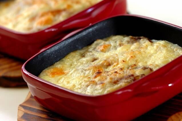 餃子の中華風長芋グラタンの作り方の手順3