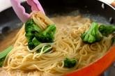 カニの豆乳クリームスパゲティーの作り方4